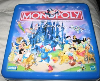 Hasbro Monopoly Disney Edition Tin Parker Brothers Board Game