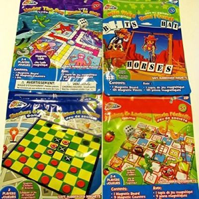 Grafix 4 Set Travel Kids,Wild West Hangman,Snakes Board Game