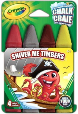 Crayola Build Your Box Shiver Me Timbers Chalk (4 Count) Board Game