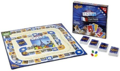 KLOO Games Kloo,S Learn To Speak French Language Race To Paris Board Game