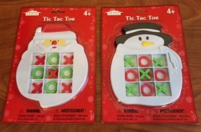 Christmas House Tic Tac Toe (Santa & Snowman) 2 Pc Pack Board Game