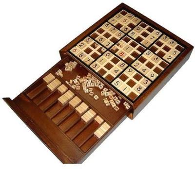 BRAIN GAMES Wooden Deluxe Sudoku Board Game