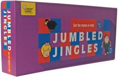 Clever Cubes Jumbled Jingles Board Game