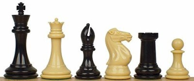 The Chess Store Professional Plastic Chess Set Black & Camel Pieces 4125