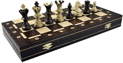 Wegiel Xl Royal Handcrafted Wooden Chess Maple Wood Board Game