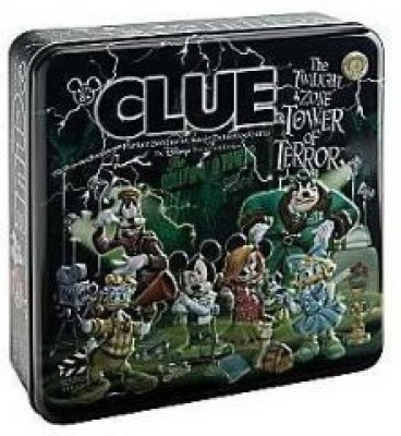 Parker Brothers Clue The Twilight Zone Tower Of Terror Disney Theme Park Board Game