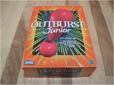 OUTBURST JUNIOR Outburst Jr The Of Verbal Explosions For Kids (2001) Board Game