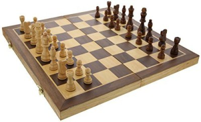 Juvale Velvet And Wood Chess Set Magnetic Pieces And Folds Board Game