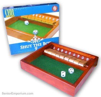 CHH Shut The Box Wooden Board Game