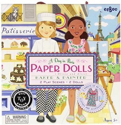 eeBoo Paper Dolls A Day In Paris Board Game