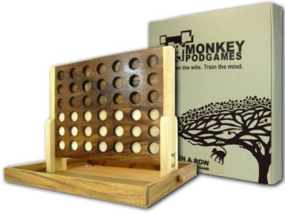 Monkey Pod Games Extra Large Wooden Four In A Row Board Game