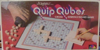 Scrabble Quip Qubes Cross Sentence Board Game