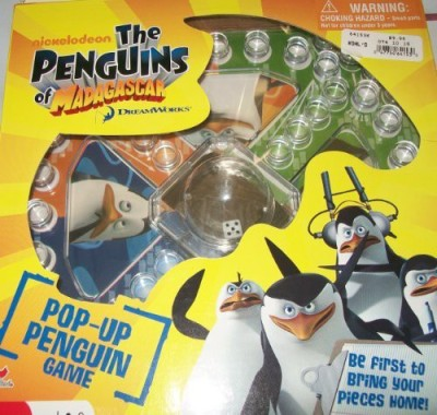 THE PENGUINS OF MADAGASCAR Nickelodeon The Penguins Of Madagacar Pop Up Penguin Board Game