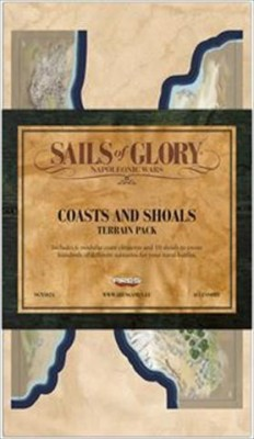 Ares Games Sails Of Glory Terrain Pack Coasts & Shoals Board Game