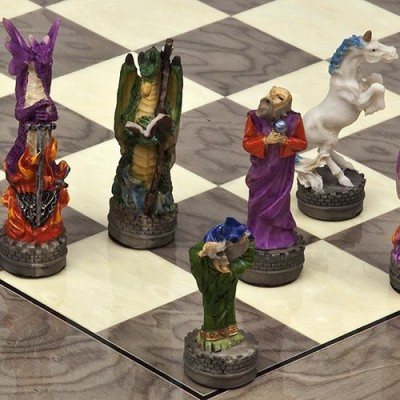 Bello Games New York, Inc. Hand Painted Fantasy Chessmen Board Game