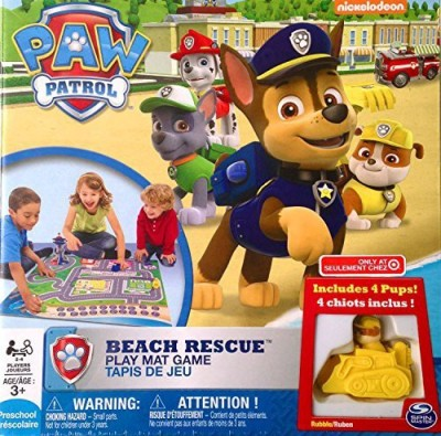 Spin Master Paw Patrol Beach Rescue Play Mat Board Game