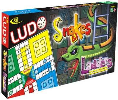 Shree Creations Ludo Snake and Ladder Board Game