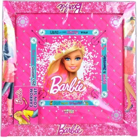 "Mattel Barbie Carom Board With 1.75"" Inches Broad Border Board Game"