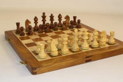Worldwise Imports Folding Wood Chess Set14 Board Game