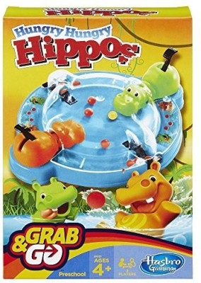 Hasbro Elefun And Friends Hungry Hippos Grab And Go Board Game
