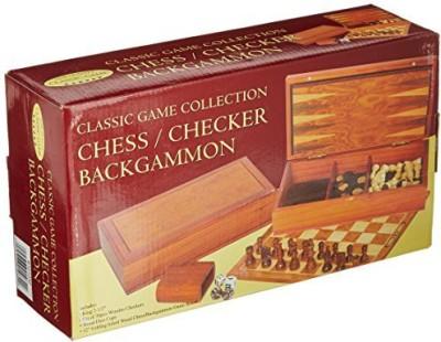 John N. Hansen Chess/Checker/Backgammon (Classic Collection) Board Game