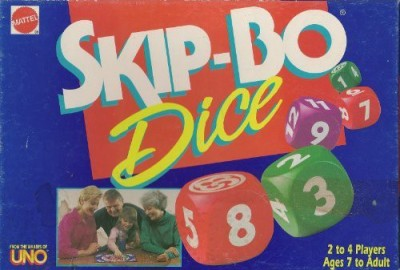 Mattel Skip Bo Dice Board Game
