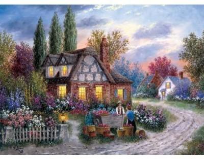Buffalo Games Dennis Lewan The Flower Vendor 1000 Pieces Jigsaw Puzzle Board Game