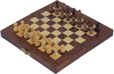 Crafts,man Square Wooden Chess (Non- Magnetic) with Storage Size: 8 x 8 inches Board Game
