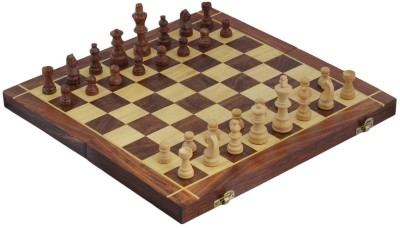 Crafts,man Square Wooden Chess (Non- Magnetic) with Storage Size:14 x 14 inches Board Game
