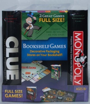 Hasbro Monopoly And Clue Set Decorative Bookshelf Edition Board Game