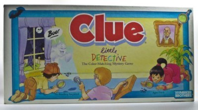 Parker Brothers Clue Little Detective The Colormatching Mystery Board Game
