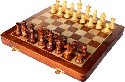 Stonkraft Collectible Wooden Folding Large Chess Game Set, Wooden Magnetic Crafted Pieces Board Game