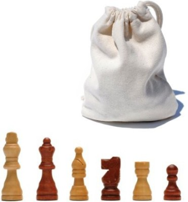 Wood Expressions Wefrench Staunton Wood Chessmen With 25 Inch King Board Game