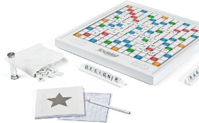 Winning Solutions Scrabble Pearl Edition With Rotating Board Game