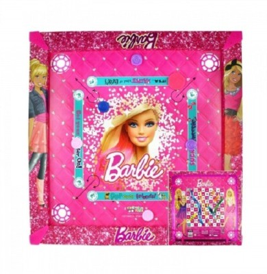 Kreative Kids 2 in 1 Carrom  20 inch    Barbie Board Game available at Flipkart for Rs.474