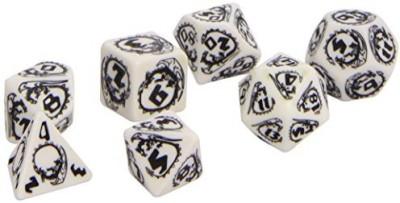 Q Workshop Dragon Dice White/Black (7) Board Game