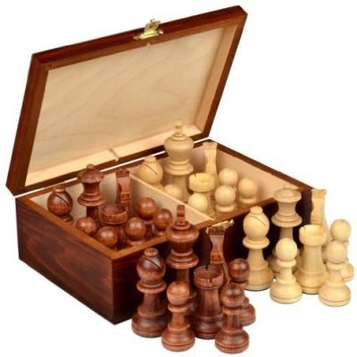 Wegiel Staunton No 7 Tournament Chess Pieces In Wooden Box Board Game