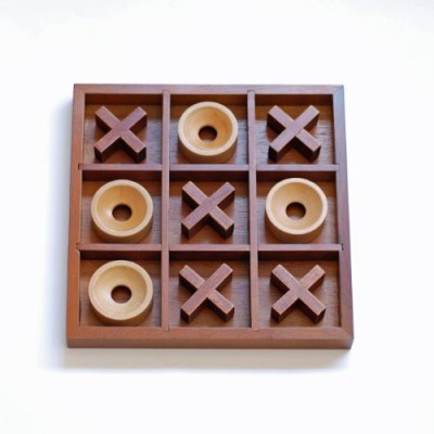 WE Games Tictactoe Wooden Board Game