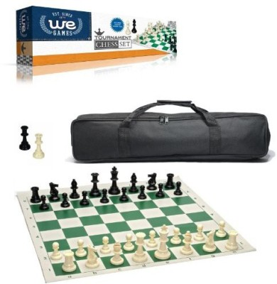 WE Games Wood Expressions Tournament Chess Set With Black Canvas Bag Board Game