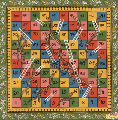 Desi Toys Saap Seedi Ka Khel Khazana Board Game