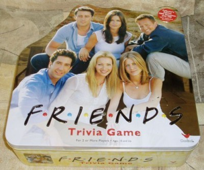 Cardinal Friends Trivia In A Collectible Yellow Tin Board Game