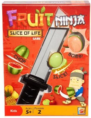Mattel Games Fruit Ninja Slice Of Life Game Board Game