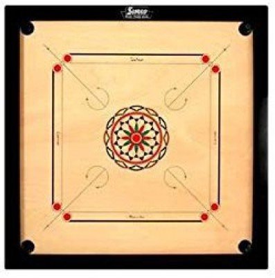 Surco Carrom With Coins And Striker4Mm Full Size Board Game