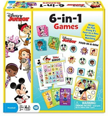Wonder Forge Disney Junior 6In1 Collection Board Game