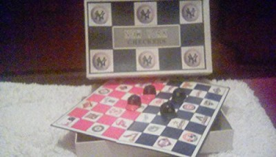 Major League Baseball New York Checkers (Yankees Baseball) Board Game