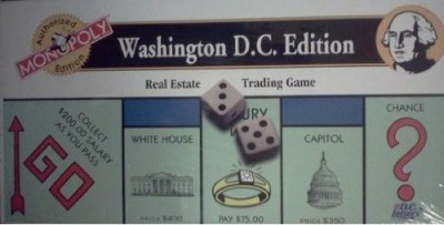 USAopoly Monopoly Washington D C Edition (Real Estate Trading ) Board Game