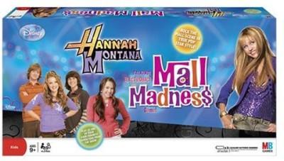 Hasbro Mall Madness Hannah Montana Board Game