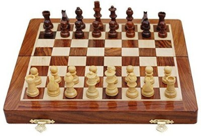 SouvNear Chess Set Magnetic Folding Chess With Travel Bag Fine Wood Board Game
