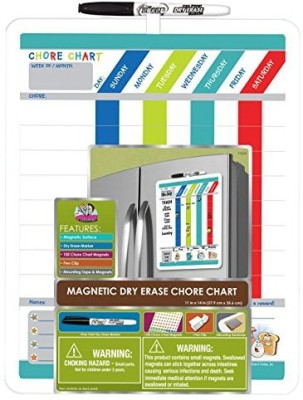 The Board Dudes Dudes Magnetic Dry Erase Rewards Chore Chart With Marker Board Game