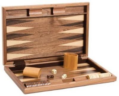 CHH 19 Fancy Walnut Backgammon Set Board Game